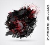 figured brush strokes brush and ... | Shutterstock . vector #381022306