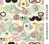 Vector Hipster Doodles Colorfu...