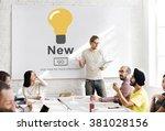new newly modern present... | Shutterstock . vector #381028156