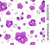 floral seamless pattern. pink...   Shutterstock .eps vector #381029374