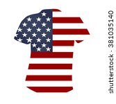 american t shirt on a white ... | Shutterstock .eps vector #381035140