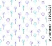 dandelion. seamless floral...   Shutterstock .eps vector #381051319