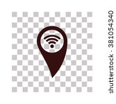 gps with wifi icon. simple...