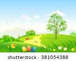 vector cartoon illustration of... | Shutterstock .eps vector #381054388