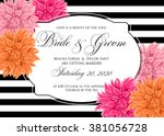 wedding card or invitation with ... | Shutterstock .eps vector #381056728
