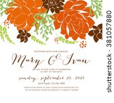 wedding graphic set with... | Shutterstock .eps vector #381057880