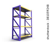 Single Pallet Rack  Isolated O...