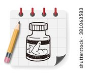 power bottle doodle | Shutterstock . vector #381063583