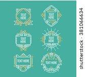 classic art deco luxury minimal ... | Shutterstock .eps vector #381066634