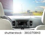 Car Interior And Road Of Few...