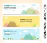 set of summer holiday banner... | Shutterstock .eps vector #381074848