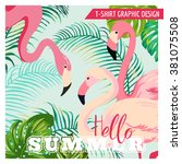 tropical graphic design.... | Shutterstock .eps vector #381075508