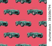seamless pattern with retro... | Shutterstock .eps vector #381086794