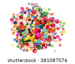 different shape and colors... | Shutterstock . vector #381087076