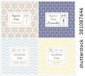 vector set of seamless patterns ...   Shutterstock .eps vector #381087646