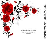 wedding card or invitation with ... | Shutterstock .eps vector #381092083