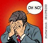 man oh no | Shutterstock .eps vector #381098200
