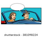 couple man and woman in... | Shutterstock .eps vector #381098224