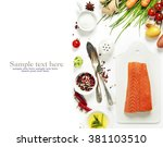 delicious portion of fresh... | Shutterstock . vector #381103510