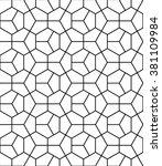 vector modern seamless geometry ... | Shutterstock .eps vector #381109984
