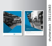 vector leaflet brochure flyer... | Shutterstock .eps vector #381110683