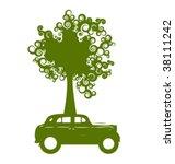 ecology car | Shutterstock .eps vector #38111242