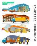 concept infographics equipment... | Shutterstock .eps vector #381118426