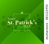 st. patrick's day vector with a ... | Shutterstock .eps vector #381121954