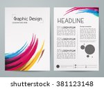 abstract colorful brush vector. ... | Shutterstock .eps vector #381123148