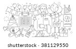 line style design concept of... | Shutterstock .eps vector #381129550