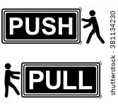 push and pull signs   vector... | Shutterstock .eps vector #381134230