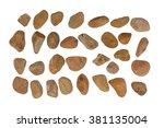 collection of ocean stones... | Shutterstock . vector #381135004
