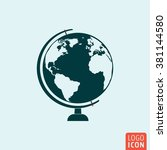 globe icon. earth globe on...