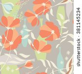 vector seamless pattern with... | Shutterstock .eps vector #381145234