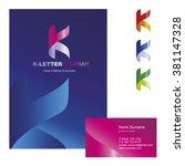 k letter   logo design concept...