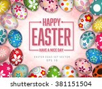 happy easter day nice a good day | Shutterstock .eps vector #381151504
