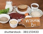 Small photo of Foods Highest in Thiamin (Vitamin B1). Selective focus