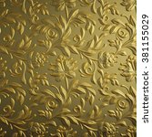 Gold Floral Background  Golden...