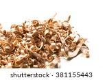 wooden shavings | Shutterstock . vector #381155443