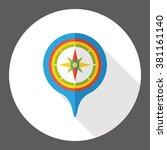 gps signpost flat icon | Shutterstock .eps vector #381161140
