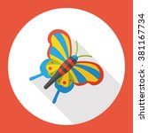 bug butterfly flat icon | Shutterstock .eps vector #381167734