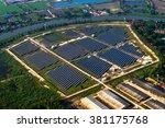 solar farm  solar panels from...   Shutterstock . vector #381175768