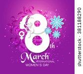 international woman's day... | Shutterstock .eps vector #381188290