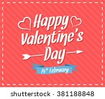happy valentine's day card | Shutterstock .eps vector #381188848