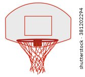 vector illustration basketball... | Shutterstock .eps vector #381202294