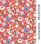 trendy seamless floral pattern... | Shutterstock .eps vector #381205228