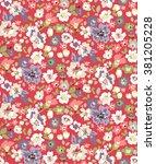 trendy seamless floral pattern... | Shutterstock .eps vector #381205228