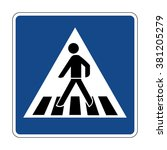 germany pedestrian crossing sign | Shutterstock .eps vector #381205279