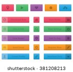 soft button and icon set