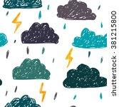 simple children's doodle... | Shutterstock .eps vector #381215800